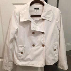 J. Crew white coat